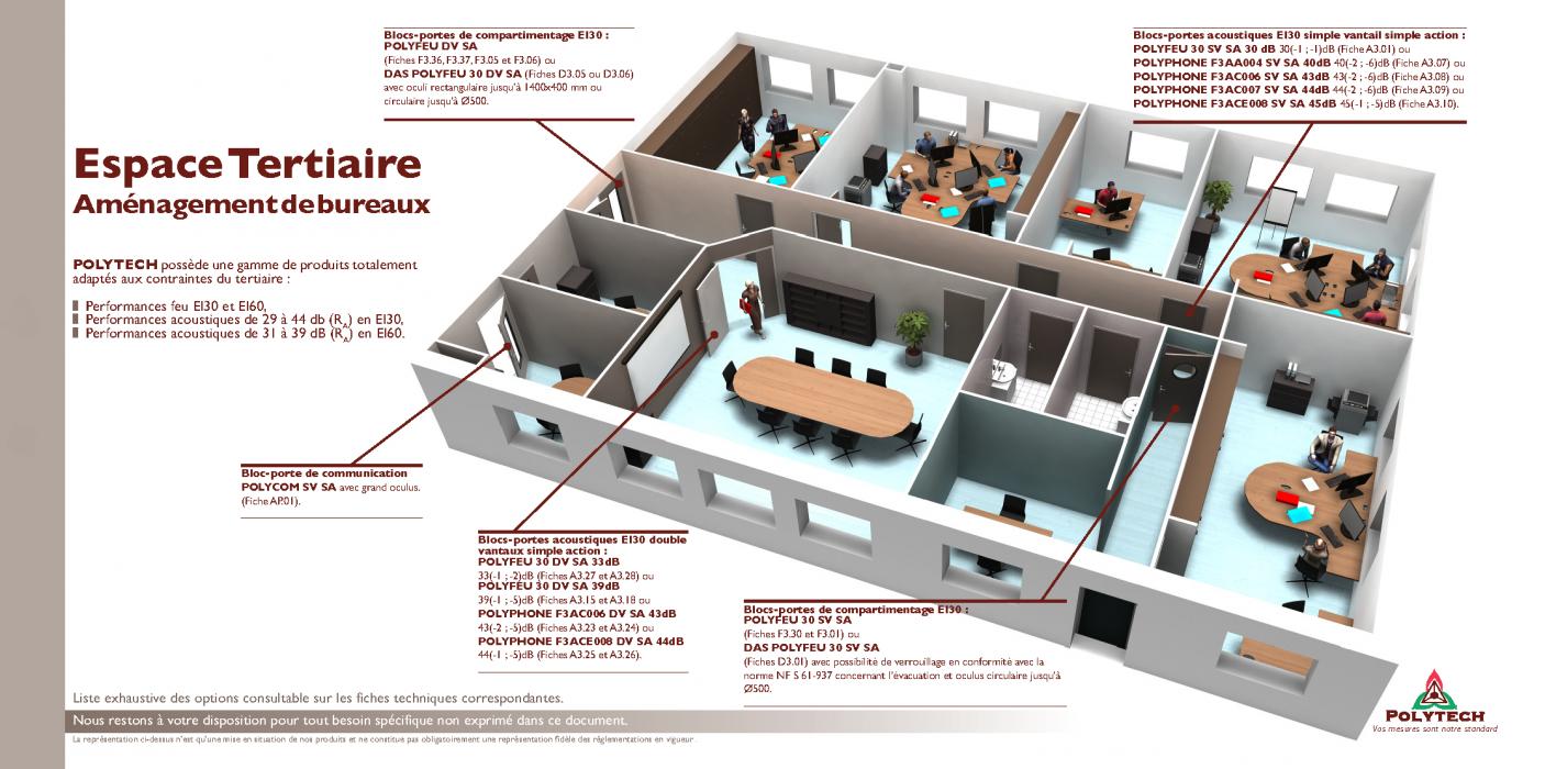 am nagement de locaux tertiaires de bureaux ou d 39 administrations polytech. Black Bedroom Furniture Sets. Home Design Ideas