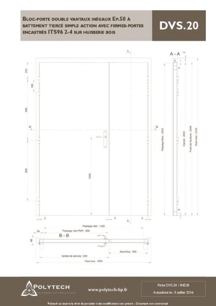 Bloc Porte Double Vantaux In Gaux Battement Tierc